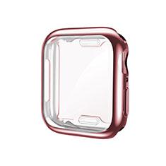 Silikon Hülle Handyhülle Ultra Dünn Flexible Schutzhülle Tasche S01 für Apple iWatch 5 44mm Rosegold