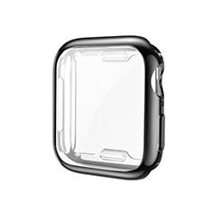 Silikon Hülle Handyhülle Ultra Dünn Flexible Schutzhülle Tasche S01 für Apple iWatch 5 44mm Schwarz