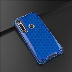 Silikon Hülle Handyhülle Ultra Dünn Flexible Schutzhülle Tasche S01 für Motorola Moto G8 Play Blau