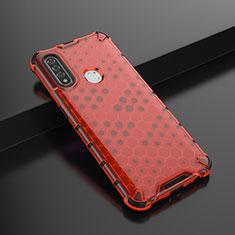 Silikon Hülle Handyhülle Ultra Dünn Flexible Schutzhülle Tasche S01 für Oppo A8 Rot