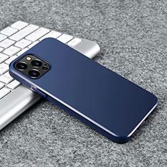 Silikon Hülle Handyhülle Ultra Dünn Flexible Schutzhülle Tasche S02 für Apple iPhone 12 Pro Max Blau