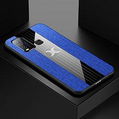 Silikon Hülle Handyhülle Ultra Dünn Flexible Schutzhülle Tasche S03 für Vivo Y50 Blau
