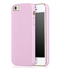 Silikon Hülle Handyhülle Ultra Dünn Schutzhülle 360 Grad für Apple iPhone 5S Rosa