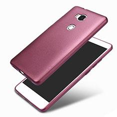 Silikon Hülle Handyhülle Ultra Dünn Schutzhülle 360 Grad für Huawei Honor 5X Violett
