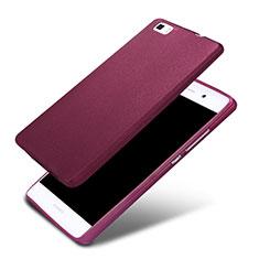 Silikon Hülle Handyhülle Ultra Dünn Schutzhülle 360 Grad für Huawei P8 Lite Violett