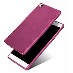Silikon Hülle Handyhülle Ultra Dünn Schutzhülle 360 Grad für Huawei P8 Violett