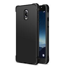 Silikon Hülle Handyhülle Ultra Dünn Schutzhülle 360 Grad für Samsung Galaxy J7 Plus Schwarz