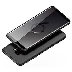 Silikon Hülle Handyhülle Ultra Dünn Schutzhülle 360 Grad für Samsung Galaxy S9 Plus Schwarz