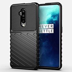 Silikon Hülle Handyhülle Ultra Dünn Schutzhülle 360 Grad Tasche A01 für OnePlus 7T Pro Schwarz