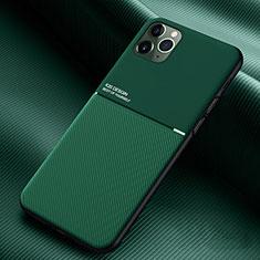 Silikon Hülle Handyhülle Ultra Dünn Schutzhülle 360 Grad Tasche C01 für Apple iPhone 11 Pro Max Grün