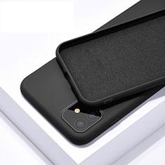 Silikon Hülle Handyhülle Ultra Dünn Schutzhülle 360 Grad Tasche C01 für Apple iPhone 11 Schwarz