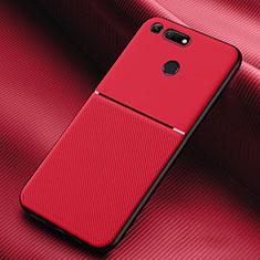 Silikon Hülle Handyhülle Ultra Dünn Schutzhülle 360 Grad Tasche C01 für Huawei Honor V20 Rot