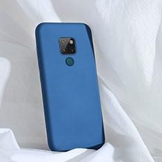 Silikon Hülle Handyhülle Ultra Dünn Schutzhülle 360 Grad Tasche C01 für Huawei Mate 20 Blau