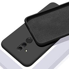 Silikon Hülle Handyhülle Ultra Dünn Schutzhülle 360 Grad Tasche C01 für Huawei Mate 20 Lite Schwarz