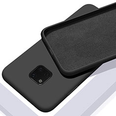 Silikon Hülle Handyhülle Ultra Dünn Schutzhülle 360 Grad Tasche C01 für Huawei Mate 20 Pro Schwarz