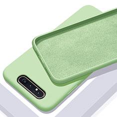 Silikon Hülle Handyhülle Ultra Dünn Schutzhülle 360 Grad Tasche C01 für Samsung Galaxy A90 4G Grün