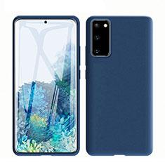 Silikon Hülle Handyhülle Ultra Dünn Schutzhülle 360 Grad Tasche C01 für Samsung Galaxy S20 5G Blau