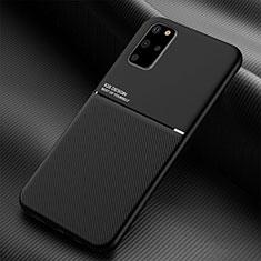 Silikon Hülle Handyhülle Ultra Dünn Schutzhülle 360 Grad Tasche C01 für Samsung Galaxy S20 Plus Schwarz