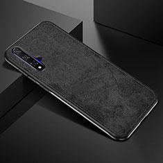 Silikon Hülle Handyhülle Ultra Dünn Schutzhülle 360 Grad Tasche C02 für Huawei Honor 20 Schwarz