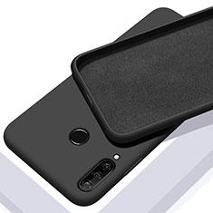 Silikon Hülle Handyhülle Ultra Dünn Schutzhülle 360 Grad Tasche C02 für Huawei Nova 4e Schwarz