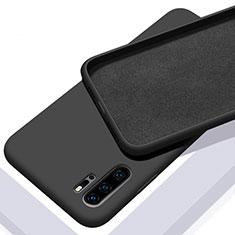 Silikon Hülle Handyhülle Ultra Dünn Schutzhülle 360 Grad Tasche C02 für Huawei P30 Pro Schwarz