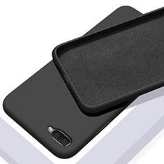 Silikon Hülle Handyhülle Ultra Dünn Schutzhülle 360 Grad Tasche C02 für Oppo K1 Schwarz