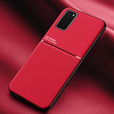 Silikon Hülle Handyhülle Ultra Dünn Schutzhülle 360 Grad Tasche C02 für Samsung Galaxy S20 5G Rot