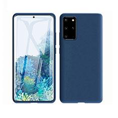 Silikon Hülle Handyhülle Ultra Dünn Schutzhülle 360 Grad Tasche C02 für Samsung Galaxy S20 Plus 5G Blau