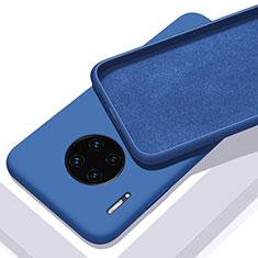 Silikon Hülle Handyhülle Ultra Dünn Schutzhülle 360 Grad Tasche C03 für Huawei Mate 30E Pro 5G Blau