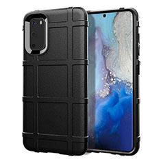 Silikon Hülle Handyhülle Ultra Dünn Schutzhülle 360 Grad Tasche C03 für Samsung Galaxy S20 5G Schwarz