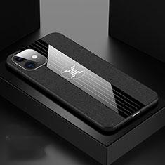 Silikon Hülle Handyhülle Ultra Dünn Schutzhülle 360 Grad Tasche C04 für Apple iPhone 11 Schwarz