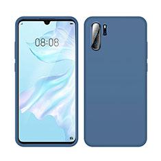 Silikon Hülle Handyhülle Ultra Dünn Schutzhülle 360 Grad Tasche C04 für Huawei P30 Pro Blau