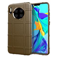 Silikon Hülle Handyhülle Ultra Dünn Schutzhülle 360 Grad Tasche C05 für Huawei Mate 30 5G Braun