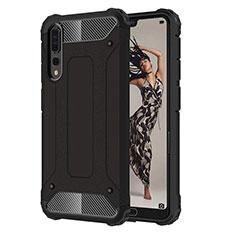 Silikon Hülle Handyhülle Ultra Dünn Schutzhülle 360 Grad Tasche C07 für Huawei P20 Pro Schwarz