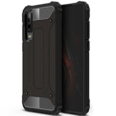 Silikon Hülle Handyhülle Ultra Dünn Schutzhülle 360 Grad Tasche C09 für Huawei P30 Schwarz
