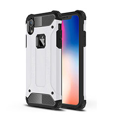 Silikon Hülle Handyhülle Ultra Dünn Schutzhülle 360 Grad Tasche für Apple iPhone XR Weiß