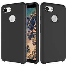Silikon Hülle Handyhülle Ultra Dünn Schutzhülle 360 Grad Tasche für Google Pixel 3 Schwarz