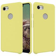 Silikon Hülle Handyhülle Ultra Dünn Schutzhülle 360 Grad Tasche für Google Pixel 3 XL Gelb