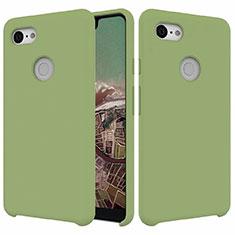 Silikon Hülle Handyhülle Ultra Dünn Schutzhülle 360 Grad Tasche für Google Pixel 3 XL Grün