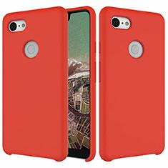 Silikon Hülle Handyhülle Ultra Dünn Schutzhülle 360 Grad Tasche für Google Pixel 3 XL Rot