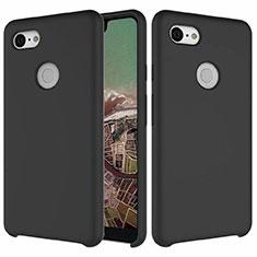 Silikon Hülle Handyhülle Ultra Dünn Schutzhülle 360 Grad Tasche für Google Pixel 3 XL Schwarz