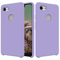 Silikon Hülle Handyhülle Ultra Dünn Schutzhülle 360 Grad Tasche für Google Pixel 3 XL Violett