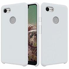 Silikon Hülle Handyhülle Ultra Dünn Schutzhülle 360 Grad Tasche für Google Pixel 3 XL Weiß