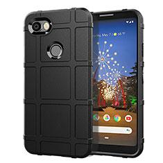 Silikon Hülle Handyhülle Ultra Dünn Schutzhülle 360 Grad Tasche für Google Pixel 3a Schwarz