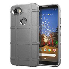 Silikon Hülle Handyhülle Ultra Dünn Schutzhülle 360 Grad Tasche für Google Pixel 3a Silber