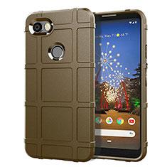 Silikon Hülle Handyhülle Ultra Dünn Schutzhülle 360 Grad Tasche für Google Pixel 3a XL Braun
