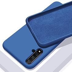Silikon Hülle Handyhülle Ultra Dünn Schutzhülle 360 Grad Tasche für Huawei Honor 20 Blau