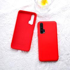 Silikon Hülle Handyhülle Ultra Dünn Schutzhülle 360 Grad Tasche für Huawei Honor 20 Pro Rot