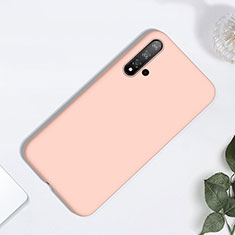 Silikon Hülle Handyhülle Ultra Dünn Schutzhülle 360 Grad Tasche für Huawei Nova 5 Rosegold