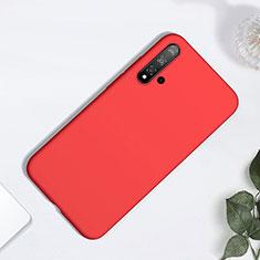 Silikon Hülle Handyhülle Ultra Dünn Schutzhülle 360 Grad Tasche für Huawei Nova 5 Rot
